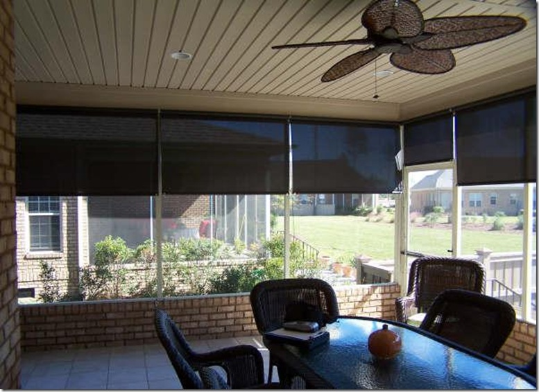 Sheer Roller Shades In Porch Application Mywindowcoverings Com